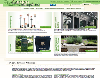 gardenantiquities PSD to XCart by Sparx IT Solutions