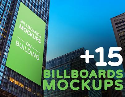 Billboards Mockups on Building Vol.2