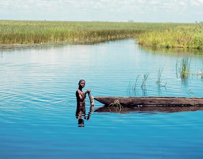 Boy in a Lake