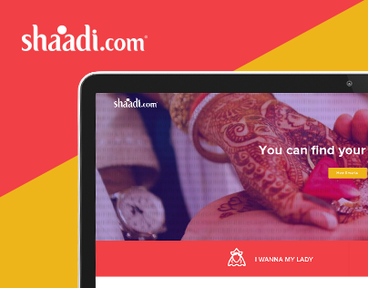 Shaadi(Dot)com landing page redesign - Responsive