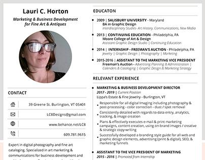 Lauri Horton Resume 2019