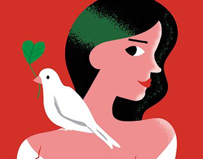 Card illustrations for UN Women