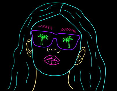 Neon Illustrations