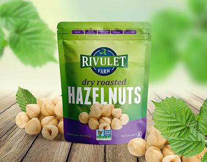 Rivulet Farm - Hazelnuts Packaging