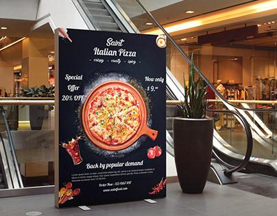 Pizza Menu Flyer Or Poster Design.