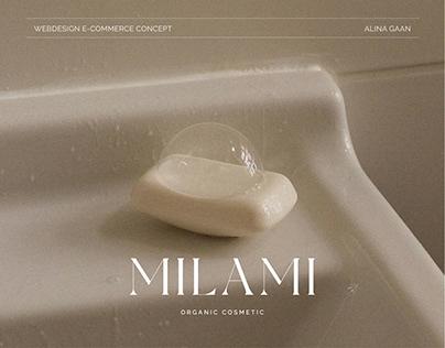 MILAMI organic cosmetics online store E-COMMERSE
