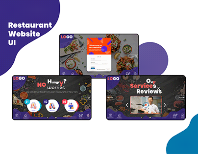 Restaurant Website UI Design (nahianuiux)