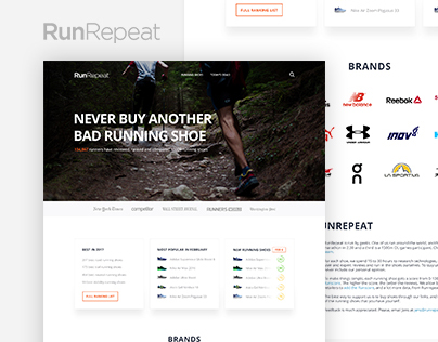 RunRepeat website redesign concept