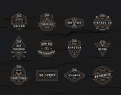 Modern Retro Logo Pack