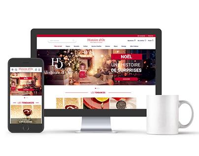 Webdesign du site de histoiredor.com & bonus 3 sliders