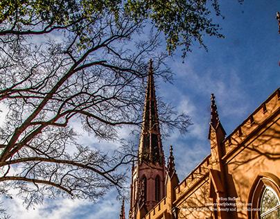 Sunset on First Presbyterian Church