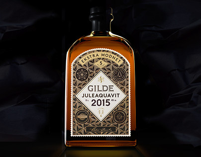 3d visualizing of Gilde christmas aquavit