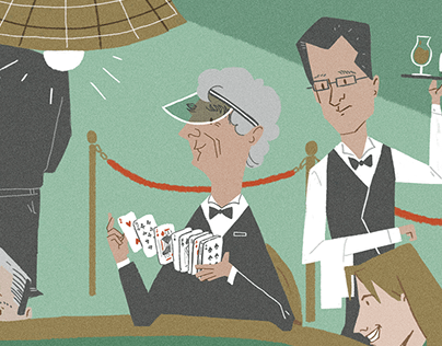 Editorial illustration: pokergame