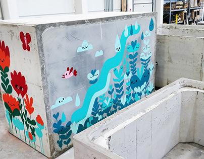 Ruskon Betoni / Mural