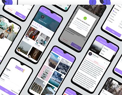 Shorti App design