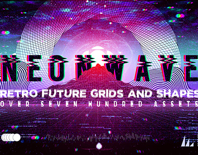 NEONWAVE Retro Future Grids and Shapes