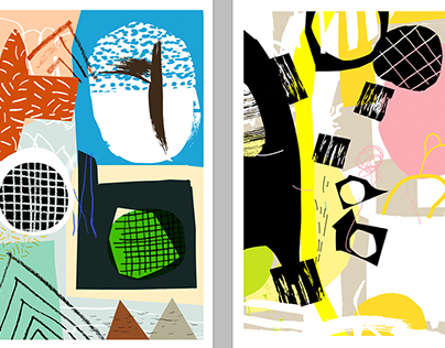 Abstract summer cards