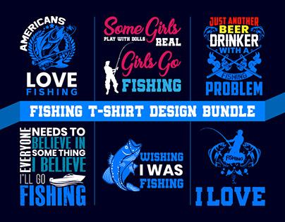 FISHING T-SHIRT DESIGN BUNDLE FOR FISHING LOVERS