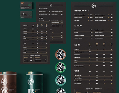 Branding for eco food stores and coffee bars