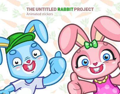 Animated stickers : Rabbits