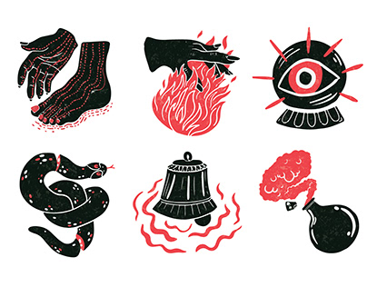 6 Senses, Icon set.