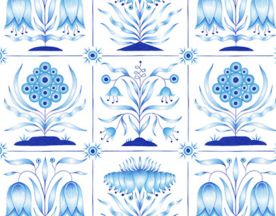 Delft Tile Pattern