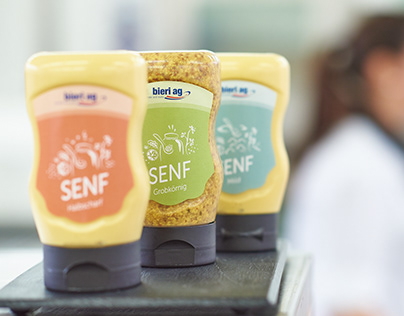 Labeldesign Senf