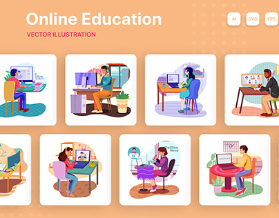 M152_Online Education Illustrations