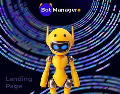 Landing page BOT-manager