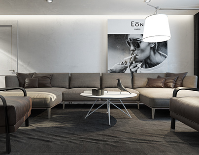 Loft interior design in Saint-Petersburg