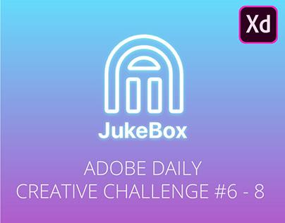 Adobe XD Daily Creative Challenge #6 - 8: Music App
