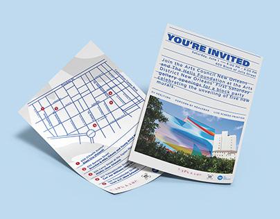 Unframed Exhibition Invite