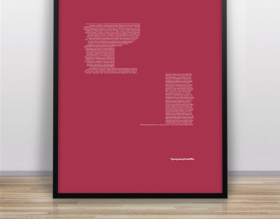 Educational Posters on Typography
