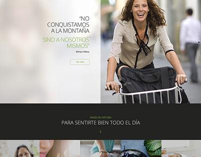 Angelini Natura / Website
