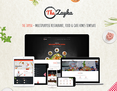 The Zayka - Restaurant, Food & Cafe HTML5 Template
