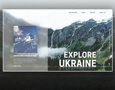 landing page. explore Ukraine.
