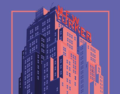 New Yorker building - Illustration