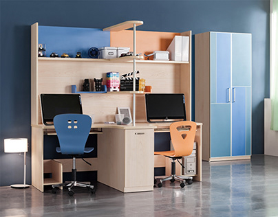 Double study tables for kids