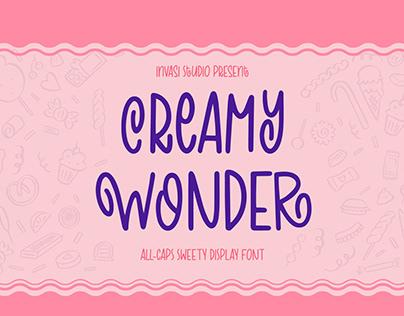 Creamy Wonder | Display Font