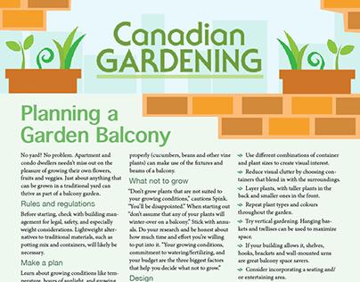 Canadian Gardening Newsletter (school project)