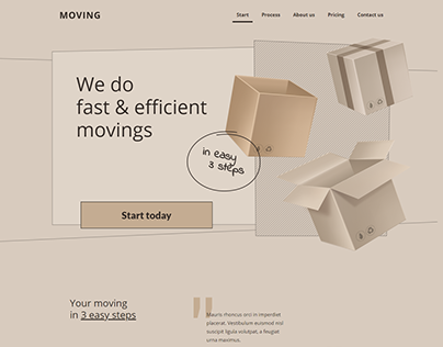 Wordpress Landing page for Courier, Percel Moving