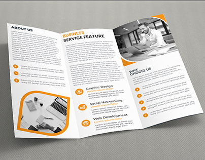 Business Trifold Brochur