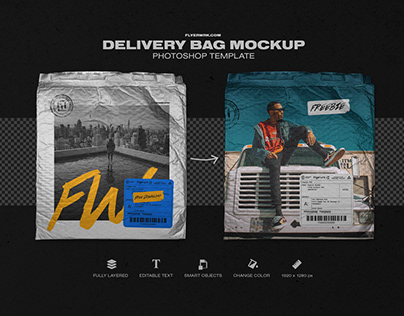 Delivery Bag - Free Photoshop Mockup