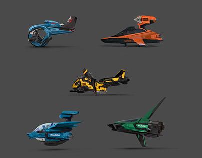 Sci-Fi Vehicles - Power Tools Series