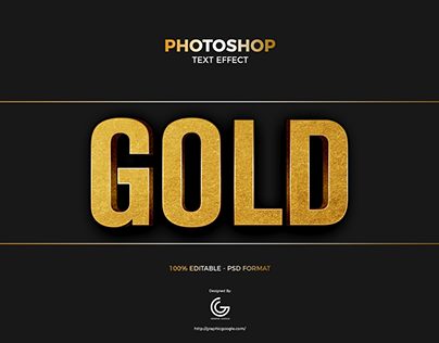 Free Gold Foil Photoshop Text Effect