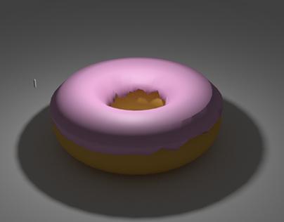 Donut 3D Model in Blender