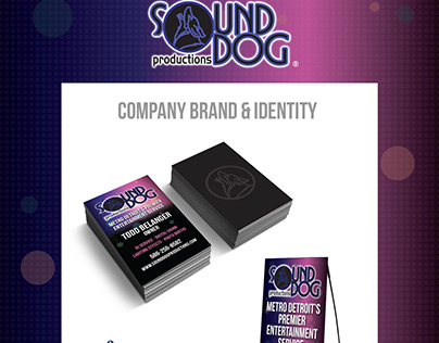 SoundDog Productions - Company Marketing Collateral