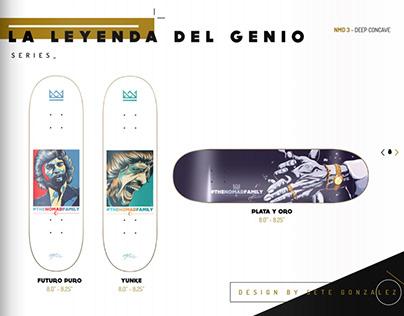 Illustration and Design for Nomad Skateboards