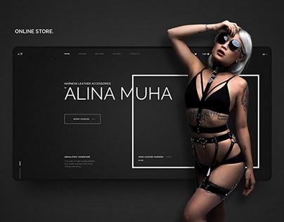 Online store. Leather accessories. Web-Design. Website.