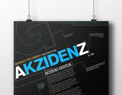 Akzidenz-Grotesk Typeface Poster